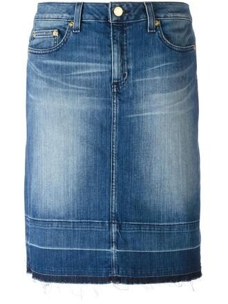 skirt denim skirt denim women spandex cotton blue