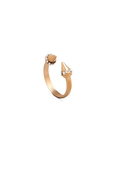 Vita Fede Ultra Mini Titan Crystal Ring in metallic / copper