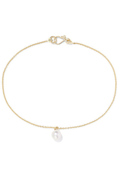 Sophie Bille Brahe pearl anklet gold jewels