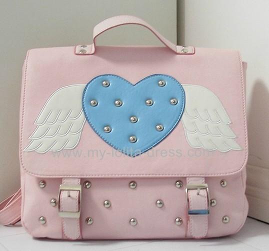 Kawaii Girls Angel Wings Heart Back Pack School Bag $37.99-Girls Shoulder Bags - My Lolita Dress