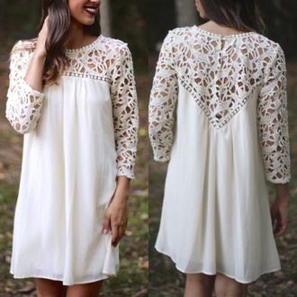 white dress lace dress classy dress classy white dress