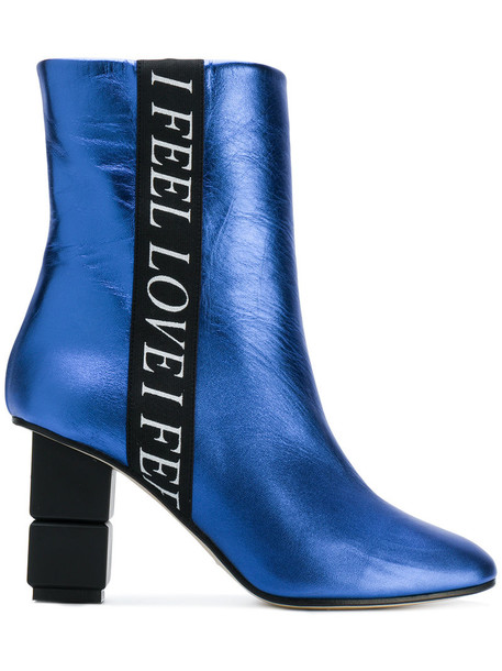 Marc Ellis women love ankle boots leather blue shoes