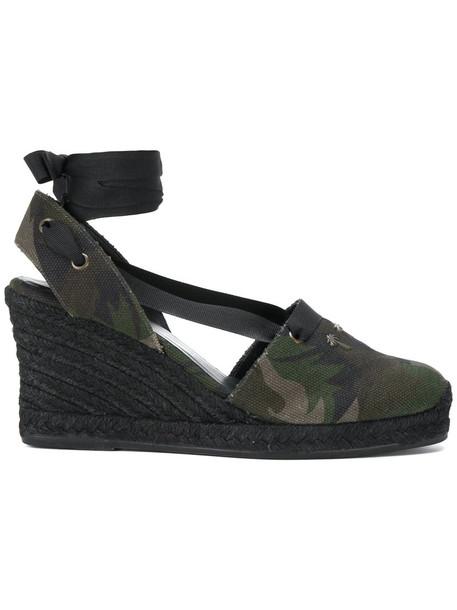 Tomas Maier women leather cotton green shoes