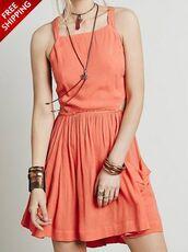 dress,red,criss cross,mini