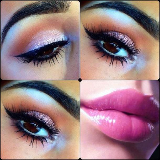 make-up pink lipstick