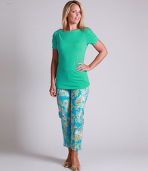 LILLY PULITZER - TRADEWIND SIDE ZIP CAPRI