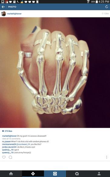 jewels hand jewelry skeleton
