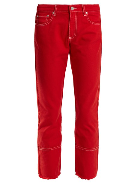 MSGM jeans cropped jeans cropped high red
