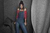 jumpsuit,kendall jenner,overalls,denim,top,necklace,summer outfits,summer,jewels,absolutemarket,choker necklace,black choker