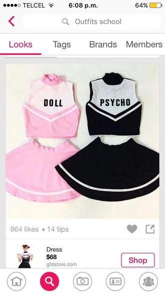dress twins doll psycho black pink friends best friends top