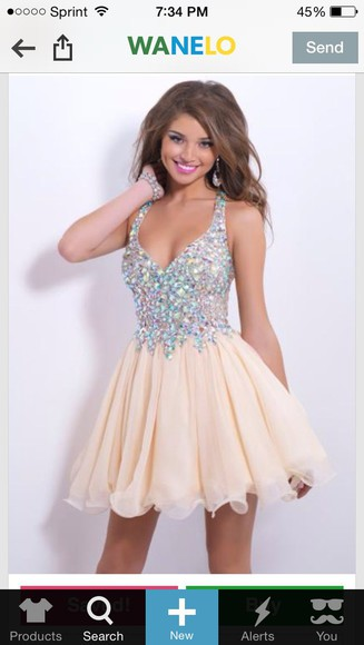 beige dress sparkly dress