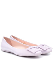 ballet,flats,ballet flats,leather,purple,shoes