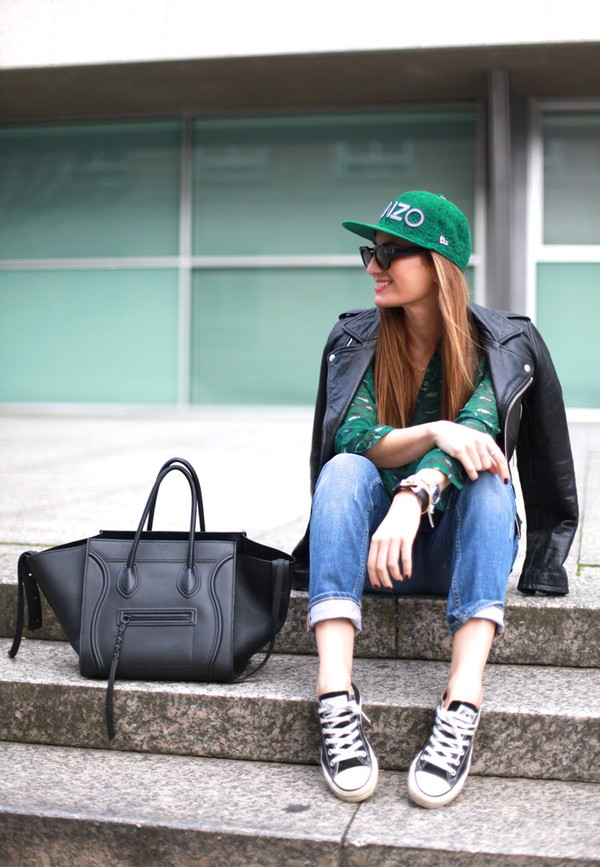 b a r t a b a c shirt jacket jeans shoes bag sunglasses jewels