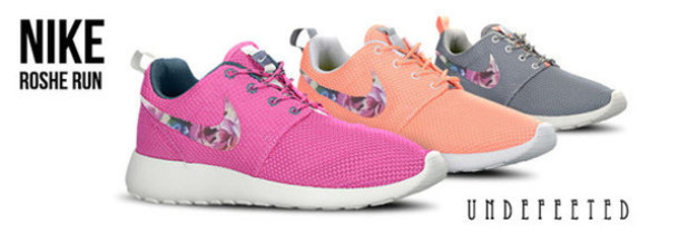 shoes nike roshe runs colorful floral roshes nike running shoes