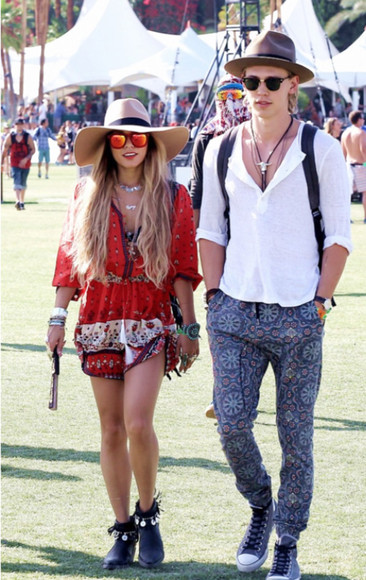festival vanessa hudgens dress casual boho printed chill laid back shoes