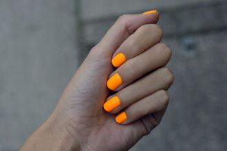 nail polish orange neon nail halloween halloween makeup