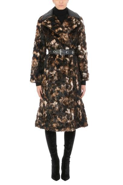 Helmut Lang coat fur coat fur
