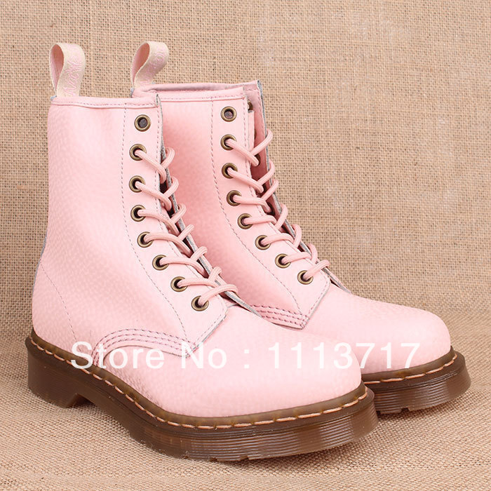 High Quality Dr.1460 8 light Pink Genuine leather martin boots martins shoes for men & women famous Marten brand designer-in Boots from Shoes on Aliexpress.com