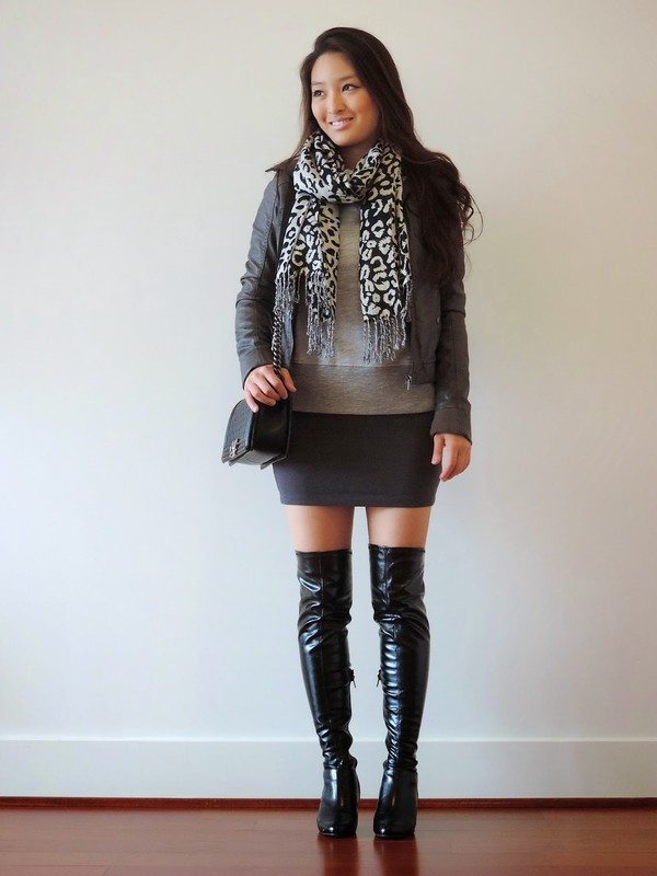 sensible stylista blogger scarf jacket bag black boots