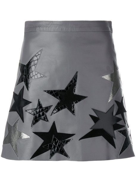 Manokhi skirt women leather grey