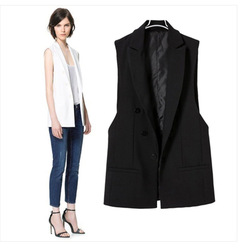 Online Shop CT70 Celebrity Style Women Pastel Tuxedo Vest Waistcoat Sleeveless Blazer Jacket Vest Tops Coat Plus Size Free Shipping|Aliexpress Mobile
