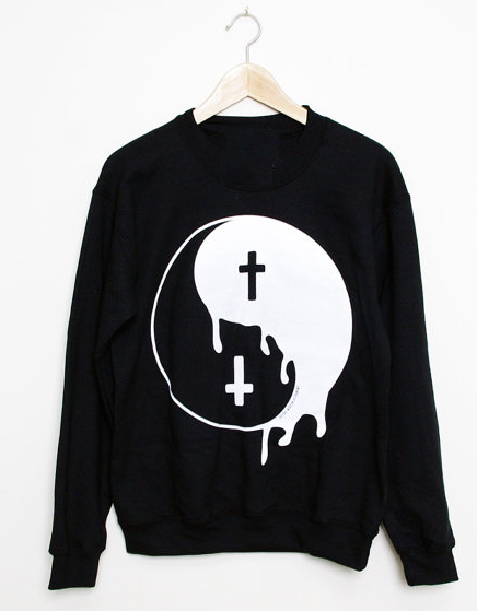 Yin yang cross sweatshirts