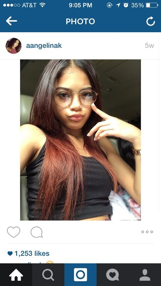 sunglasses round frame glasses