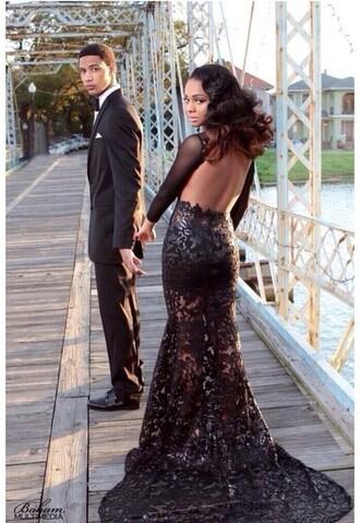 dress formal dress black dress lace dress prom dress date outfit guys model prom menswear