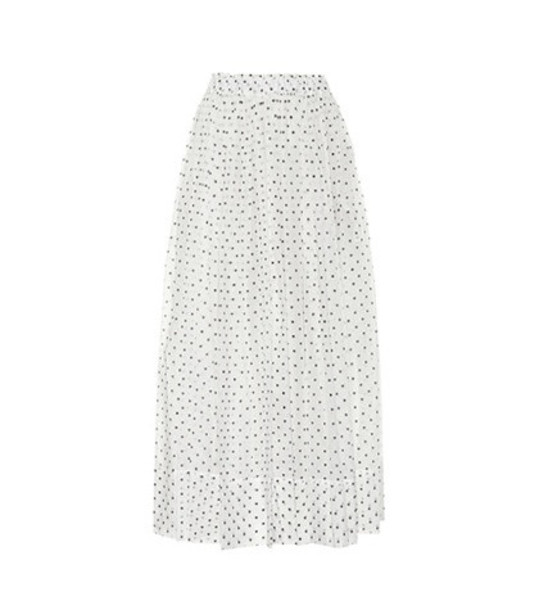 Alexandre Vauthier Polka-dotted cotton skirt in white