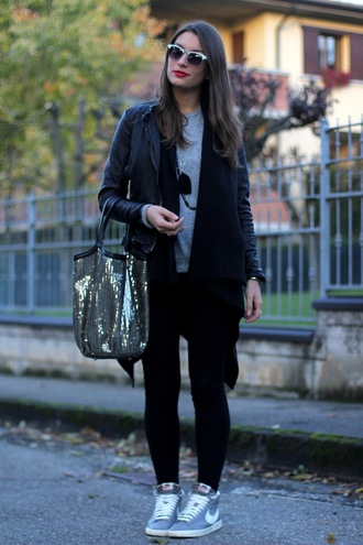 style and trouble jacket shoes sweater bag sunglasses jewels