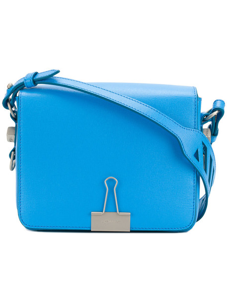 Off-White women bag leather blue