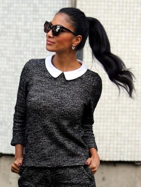 sweater nicole scherzinger swater stylish sunglasses elegant