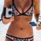 Printed beach bikini