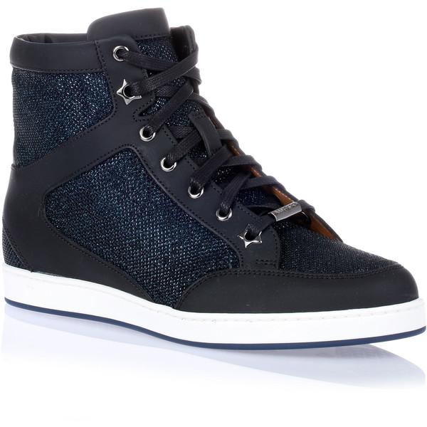 Jimmy Choo Tokyo Dark Blue Glitter Sneaker