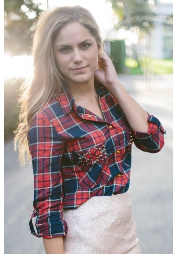 Brooklyn Plaid Shirt- A plaid shirt is just something every girl should have in he