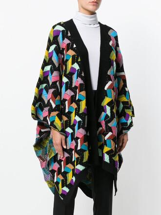 cape women geometric black wool pattern top