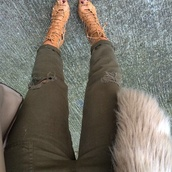 khaki pants,strappy sandals,pants,shoes