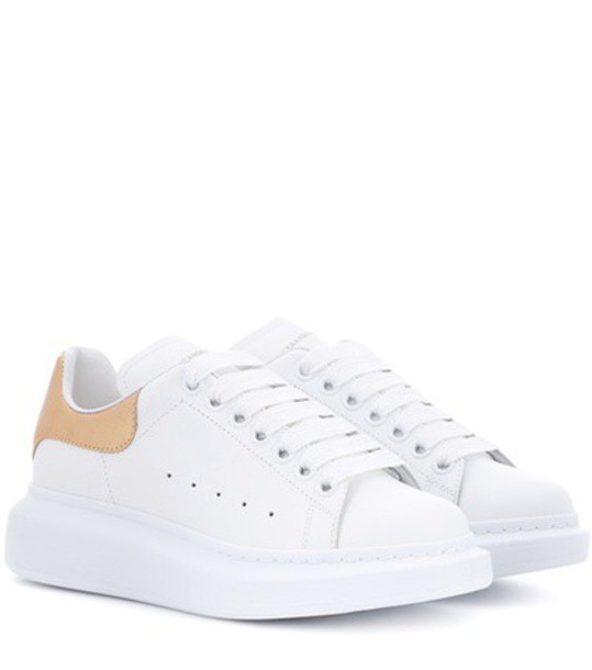 Alexander Mcqueen sneakers platform sneakers leather white shoes