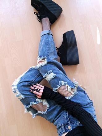 kimi peri blackrush blogger hat sweater jewels tights jeans shoes