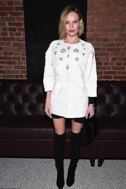 kate bosworth white coat