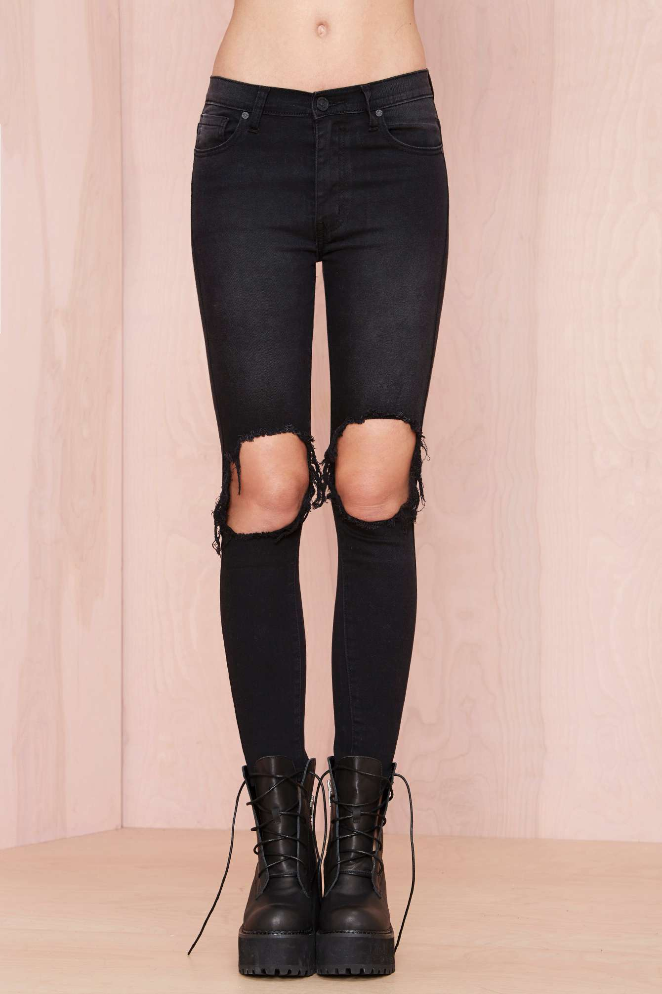 UNIF Peach Pit Skinny Jeans - Black