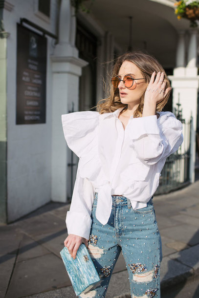at fashion forte blogger shirt sunglasses jewels jeans bag shoes