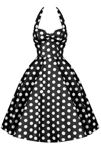 black dress 50s style cute dress polka dots vintage vintage dress polka dot skirt polka dot dress