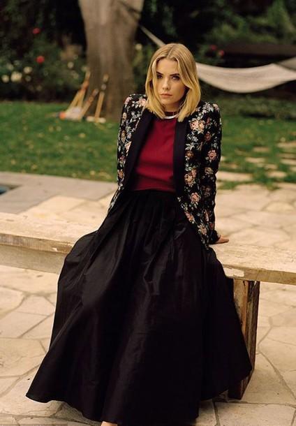 jacket maxi skirt skirt ashley benson