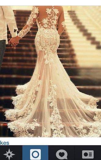 long dress wedding dress classy white dress white lace dress white white floral short dress gown