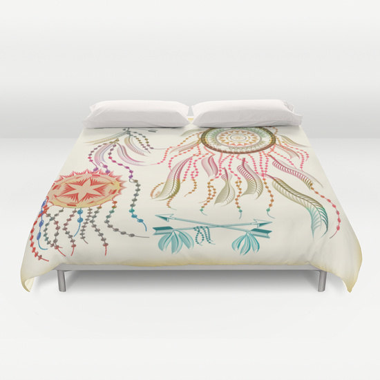 cover, decorative dream catcher, boho bedding home interior decoration