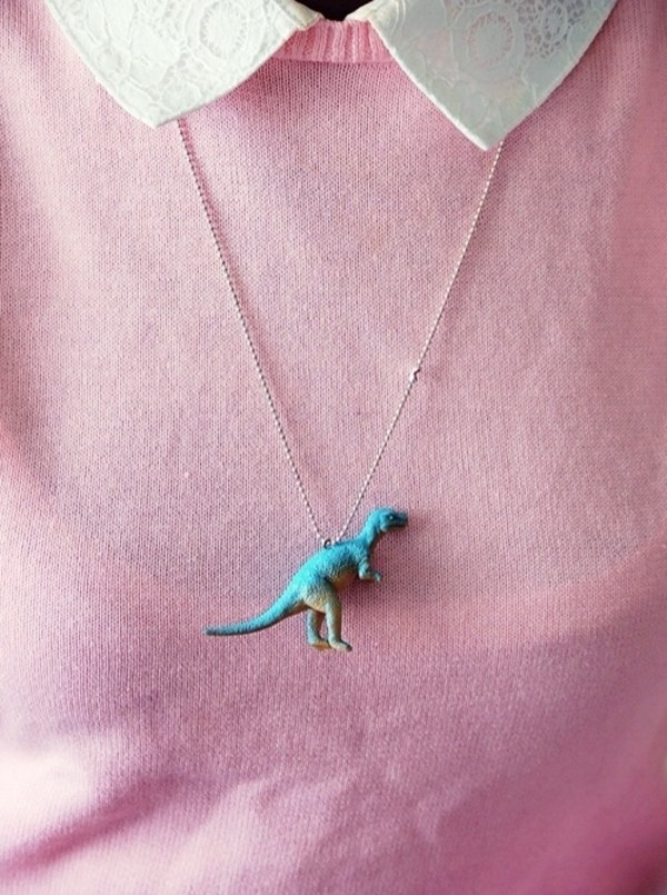 jewels dinosaur cute necklace blue dino grunge