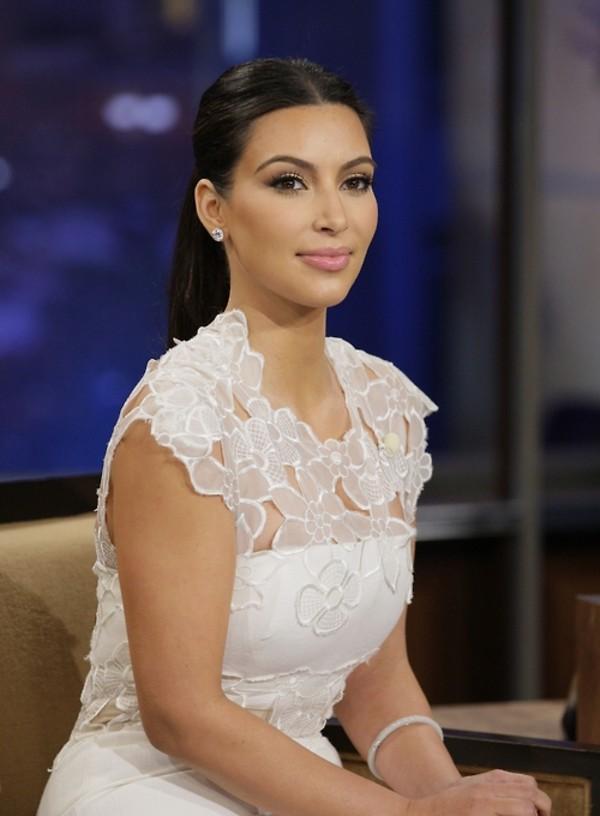 Dress: white dress, floral dress, kim kardashian, lace dress ...