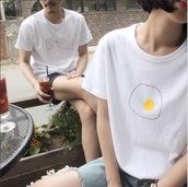 t-shirt,girl,egg,pattern,charger,plug,breakfast