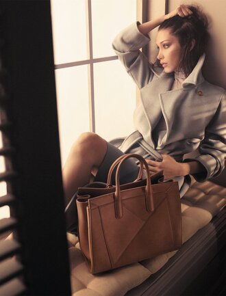coat bella hadid model purse max mara bag